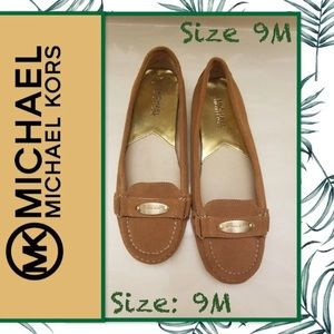 Michael Kors Suede Gold Plated Flats/Loafers